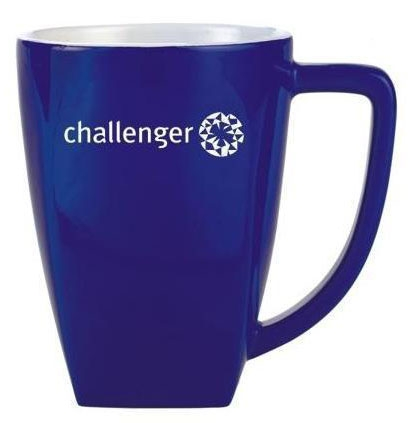 Blue Promotional Rocco Mugs