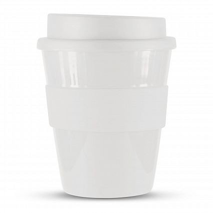 White Express Coffee Promotional Mugs